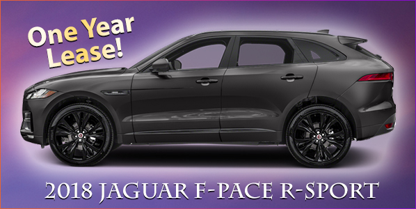 2018 Jaguar F-Pace R-Sport - One Year Lease!